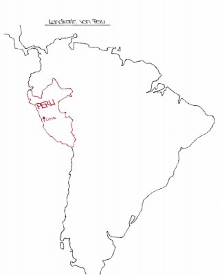 Landkarte von Peru