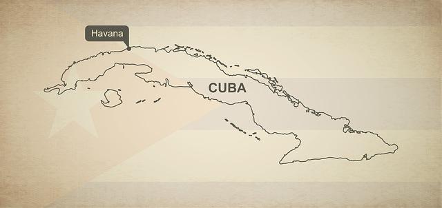 Landkarte von Kuba