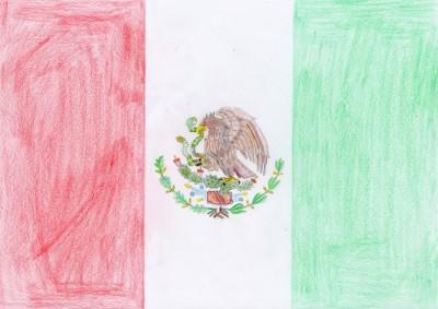Die Flagge Mexikos