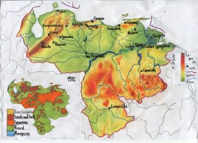 Venezuela-Karte